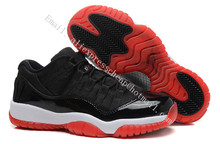 new 2016 women air jordan 11 xi retro shoes low white gym red navy gum with original box for sale woman size US5.5 to 8.5(China (Mainland))