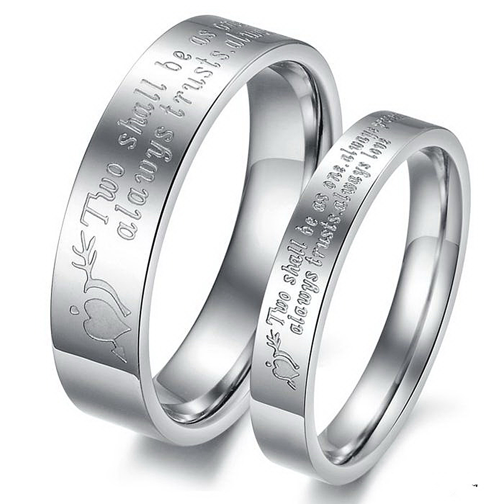 never darken titanium steel engraved love his and hers heart couple ring set romantic lovers wedding - His And Hers Wedding Rings Cheap