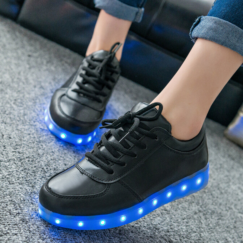 LED Shoes For Men Fashion Light Up Casual Shoes For Adults 7 Colors Outdoor Glowing Women/men Plus Size35-44 zapatos mujer