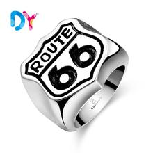 2016 New Fashion Stainless Steel USA Biker Road ROUTE 66 Ring For Men Motor Biker Men's Jewelry Party