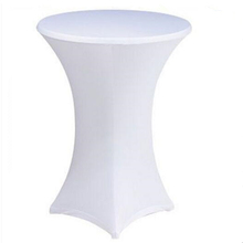 10PCS Spandex table cloth Lycra 80cm diameter cocktail stretch table cover wedding party event(China (Mainland))