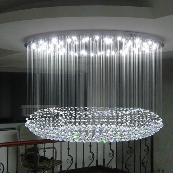 Minimalista redondo moderno cristal llev l mpara de techo - Lamparas de salon de techo ...