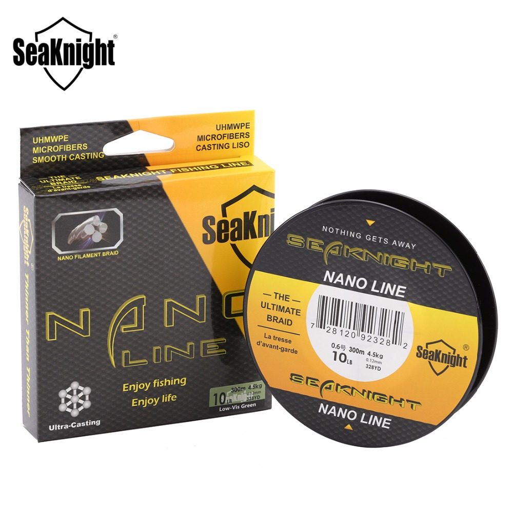 SeaKnight NANO 300M New 4 Strands Braided Fishing Lines Multifilament PE Fine Fishing Line 4LB 6LB 8LB 10LB Ultra Fine Diameter(China (Mainland))