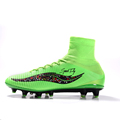 2016 Sufei superfly football boots V AG cheap soccer shoes mens high ankle Fluorescent green black