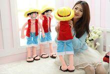 80cm one piece luffy plush toy, luffy one piece plush doll, one piece anime plush chopper plush toy