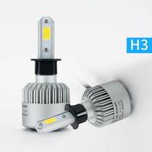 Buy One set Car Light H4 H7 H3 H11 H1 9005 9006 COB LED Car Headlight Bulb Hi-Lo Beam 72W 8000LM white xenon 6500K Auto Headlamp for $18.85 in AliExpress store