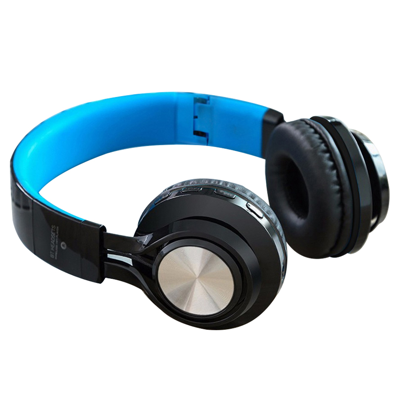 Wireless Bluetooth Headset Blue tooth Stereo Headphones Microphone Support TF Card AUX iPhone 5S 6 6S Plus Xiaomi