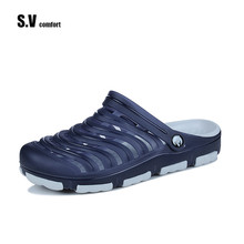 Buy SV Comfort Brand New Hot Garden Shoes Breathable Summer Slippers Hole Shoes Men Sandals Clogs Beach Flip Flop Jelly Shoe Mules for $17.80 in AliExpress store