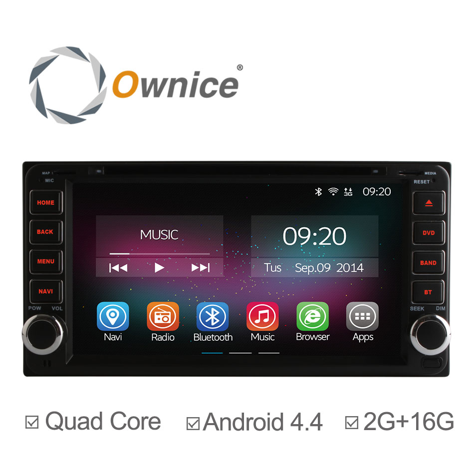 Ownice C200 Android 4.4 Car DVD Player GPS Navigation for Toyota Terios Old Corolla Camry Prado RAV4 Universal 2Din Radio 2G+16G(China (Mainland))