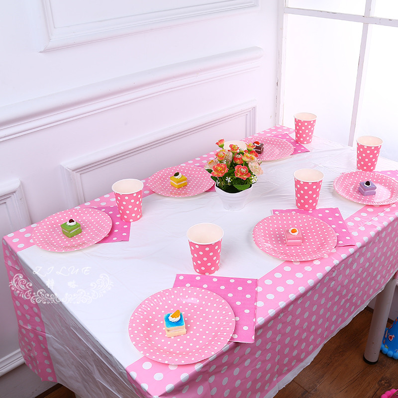 1pcs 180*108cm/70*42 Inch Plastic Table Cloth Polka Dot Table Cover Waterproof Disposable Tablecloth Birthday Party Wedding Home(China (Mainland))