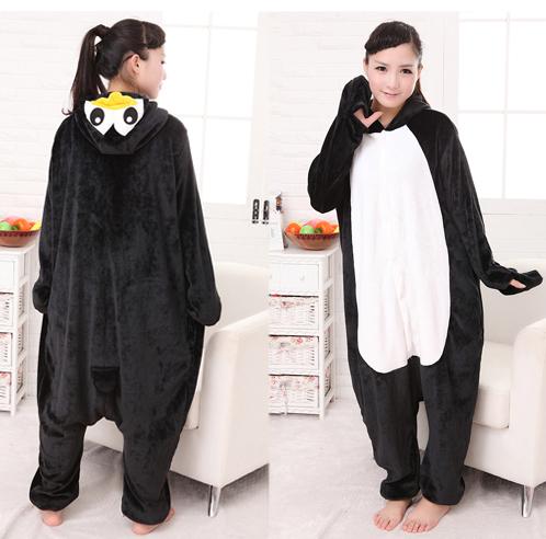 New Fashion Pijama Animales Adulto Halloween Cosplay Costume Penguin Pajamas Unisex Women/Men Animal Sleepwear Pajama(China (Mainland))