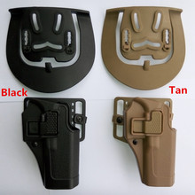 Tactical 100% genuine Military Army Tactical for hunting police guns accessories belt CQC holster for Glock black Tan right hand