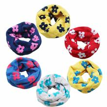 Newly Design Baby The New Plum Blossom Children Scarf Printing Lovely Warm Children's Collar(China (Mainland))