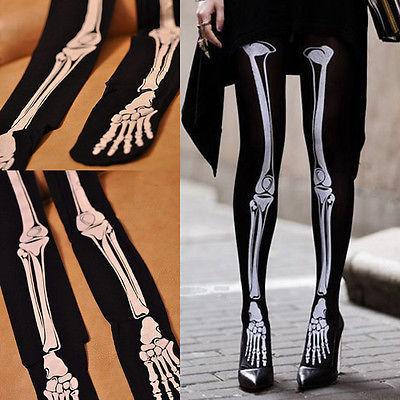 Lot 10pcs Womens Sexy Skull Skeleton Ladies Tattoo Socks Pantyhose(China (Mainland))