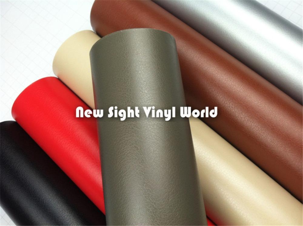 Grey Leather Vinyl Wrap Leather Pattern Car Sticker Internal Decoration Size:1.52*30m/Roll<br><br>Aliexpress