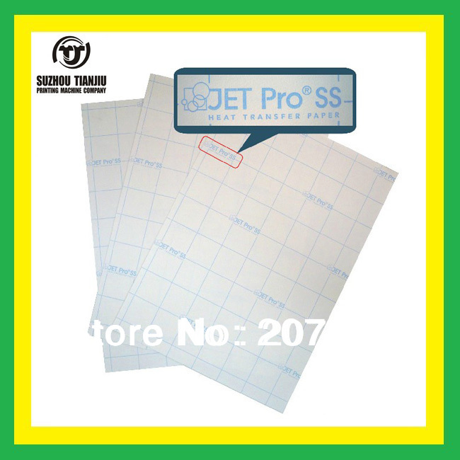 A4,JET Pro (R)ss light color heat transfer paper,T-shirts transfer paper,can be cutting paper,inkjet transfer paper(China (Mainland))