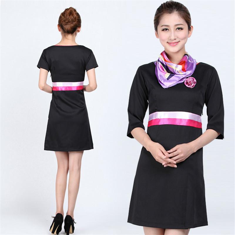 medical uniforms women hospital medical scrub clothes dental clinic beauty salon nurse uniform slim fit Short Sleeve Work dress(China (Mainland))