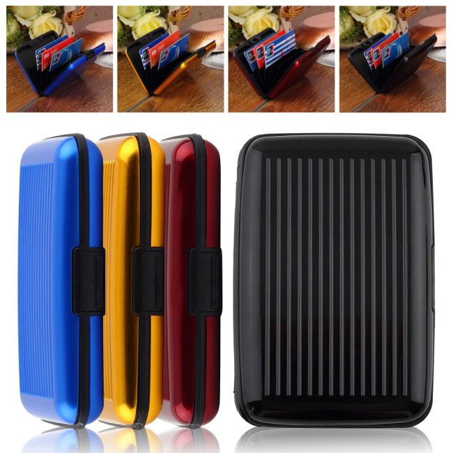 1pcs Business ID Credit Card Waterproof Aluminum Newest Promotion Wallet Holder Pocket Case Box(China (Mainland))