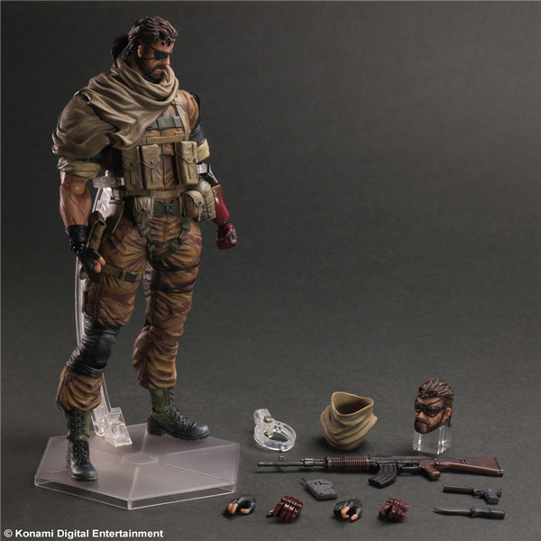 PLAY ARTS KAI Metal Gears SNAKE PVC Action Figures Collectible Model Toys 26cm KT1982(China (Mainland))