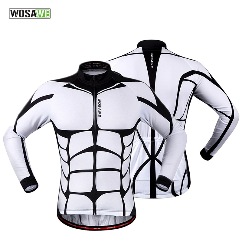 WOSAWE 100% POLYESTER Mens Cycling Jersey Long Sleeve Oudoor Sports Bicycle Cycle Clothing Quick Dry Riding Clothes<br><br>Aliexpress
