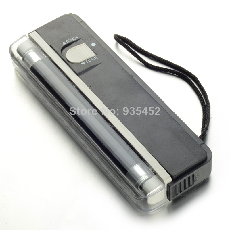 Mini 2in1 Handheld Torch Portable UV Light Money Detector Lamp Pen T0137 P(China (Mainland))