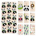 Cute Cartoon Animal Panda Case For Iphone SE 5 5S 5C 6 6S 7 Plus Transparent
