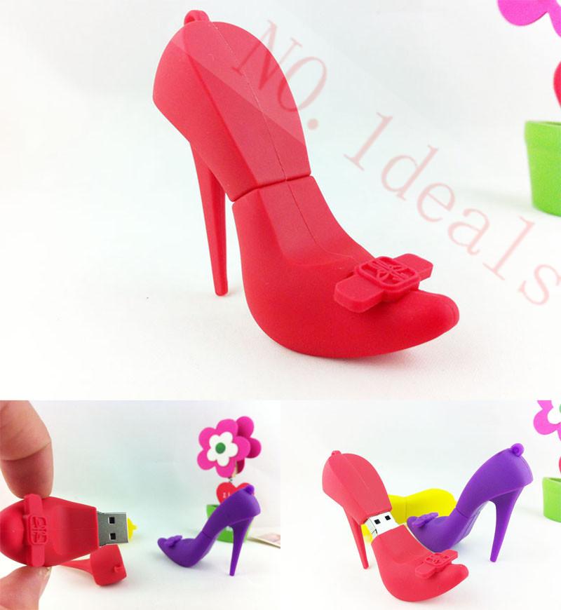 pendrive flash card High heels 2g 4g 8g 16g 32g 64g, pendrives cartoon red shoes usb flash drive usb memory pen driver gadget(China (Mainland))