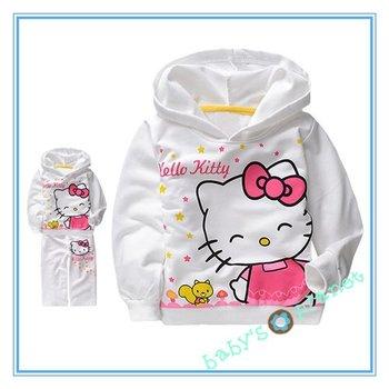brandnew freeshipping hello kitty clothing set /girl cloth set/ hoody+pants/kid sports suit wear/5sets/lot