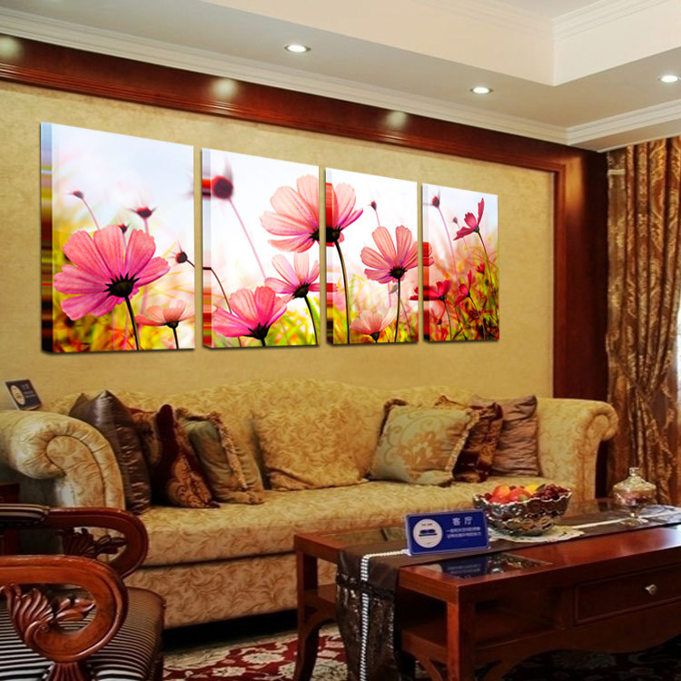 Canvas Wall Art Home Decoration Pink Flower Decoration