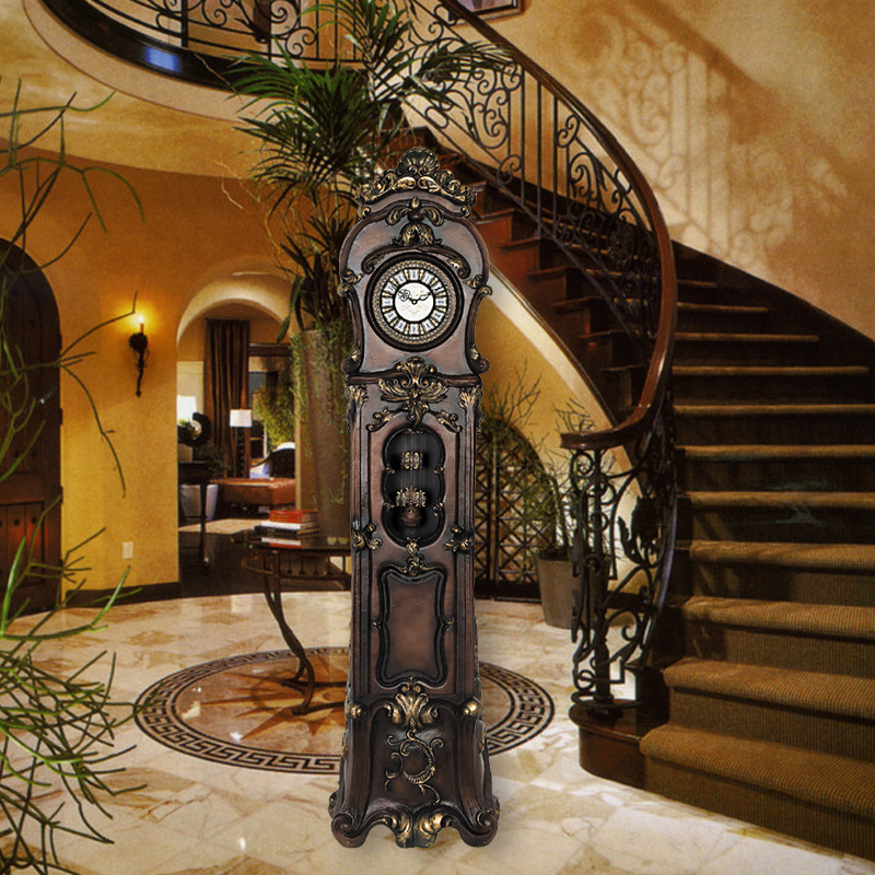 clock art Picture - More Detailed Picture about Grandfather Clock living room European style ...