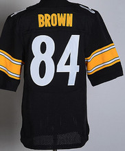 2016 Men Pittsburgh Steelers #84 Antonio Brown #7 Ben Roethlisberger #25 Bruns Elite embroideried black white #26 LeVeon Bell(China (Mainland))