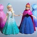 12CM Princess Anna Aisha Action Figure Set With Magic Clip Dress Best Kids Girls Play Toys