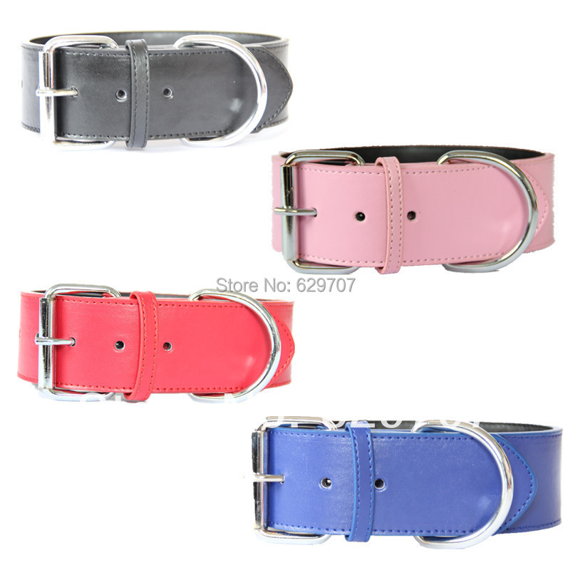 Personalized Brand New 2 Inch Wide Pu Leather Standard Dog Collar For Large Dogs Pet Products(China (Mainland))