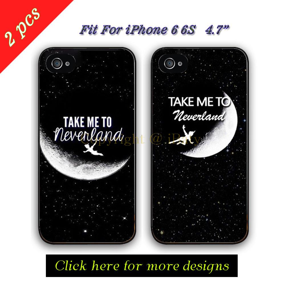 Take Me to Neverland Couple BFF Case For Apple iPhone 6 Peter Pan Best Friends Lover Mobile Phone Cover Capinha 6S 4.7 inch(China (Mainland))