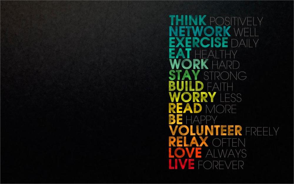 Live forever using this tips motto about life Home Decoration Canvas Poster Print