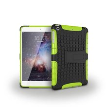 100pcs/lot Free shipping 8colours Hybrid Kickstand Plastic+TPU wallet colorful case covers for apple ipad mini 1 2 3 cover case(China (Mainland))