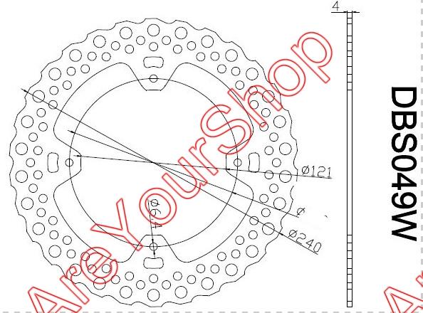 Здесь можно купить  240mm Stainless Steel Motorbike Rear Brake Disc Motorcycle Brake Disk for Honda CR E 125 CR E 250 CRF R 250 CRF X 250  Автомобили и Мотоциклы