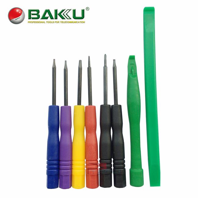 baku mini screwdriver set opening tools kit 8 in 1 torx phillips pentalobe plastic pry spudger. Black Bedroom Furniture Sets. Home Design Ideas