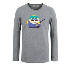Cute Cartoon South Park Kyle Broflovski Cotton Long Sleeve Tops Tees for Boy Casual Clothing Anime cosplay family T shirt(China (Mainland))