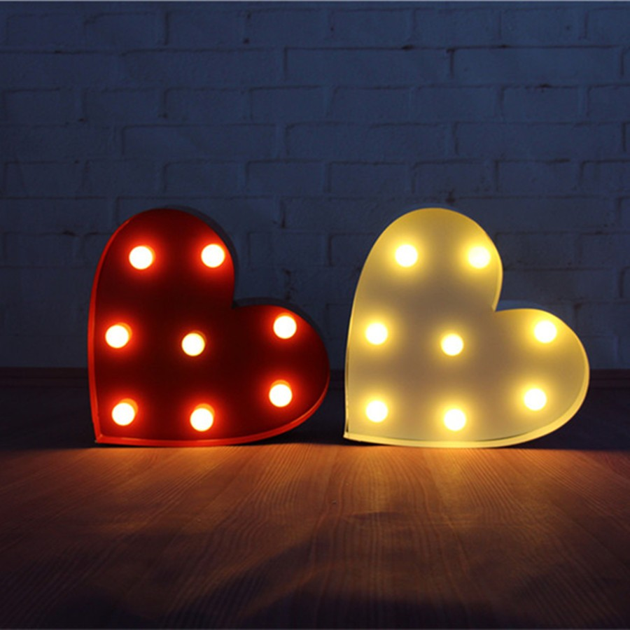 10inch metal heart shape LED Marquee Sign LIGHT UP  Vintage signs light valentine's day gift wedding Indoor Deration