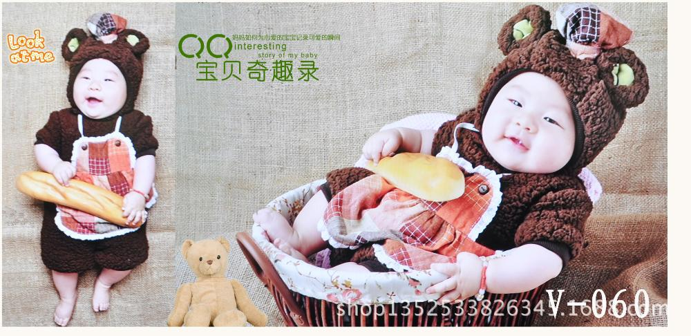 The new 2014 photography clothing wholesale sales children clothing modelling studio photos The age of one hundred - day photo(China (Mainland))