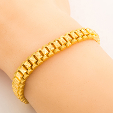 Women bracelet  jewelry 19cm*8mm   24K Real Gold Plated  classic jewelry dubai/Ethiopian/ African women jewelry  wholesale B010(China (Mainland))