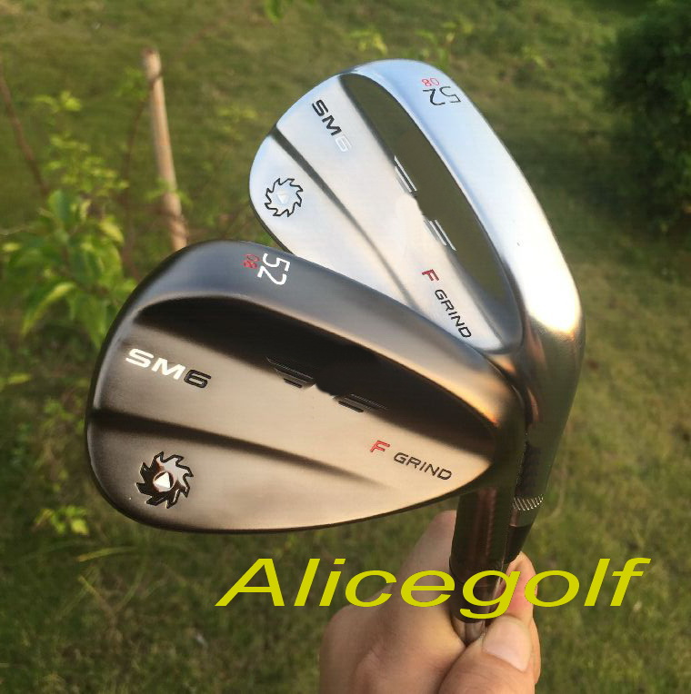 New golf wedges SM6 wedges black/ silver 52 54 56 58 60 degree with project X 6.0 steel shaft 3pcs OEM quality golf clubs<br><br>Aliexpress