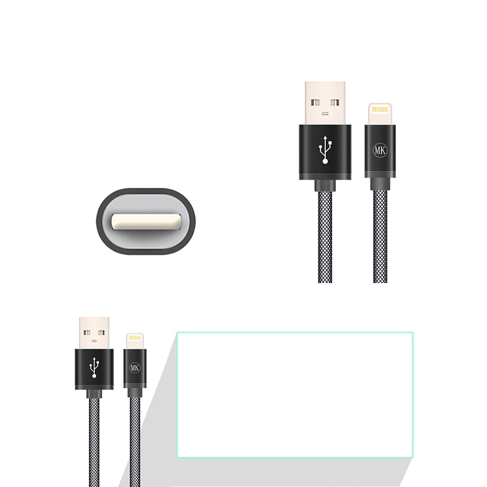 Mk Data USB Cable High Fast Charger Cable For Apple iPhone ios iPad 5 5s 6 6s Mobile Phone Lightning Charging for 0.2m 1m 2m 3m