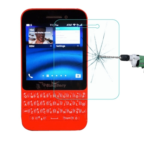 For BlackBerry Q5 Mobile Phone Screen Protector Explosion-proof Tempered Glass Film Free Shipping(China (Mainland))