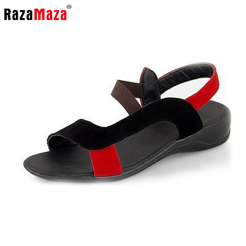 women real genuine leather bohemia slippers summer party flat sandals sexy fashion brand heeled ladies shoes G103 size 34-40(China (Mainland))