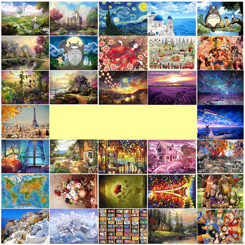 New Arrival 1000 pieces wooden landscape puzzle with a Large picture Castle jigsaw adult Kids educational Toy Christmas Gift(China (Mainland))