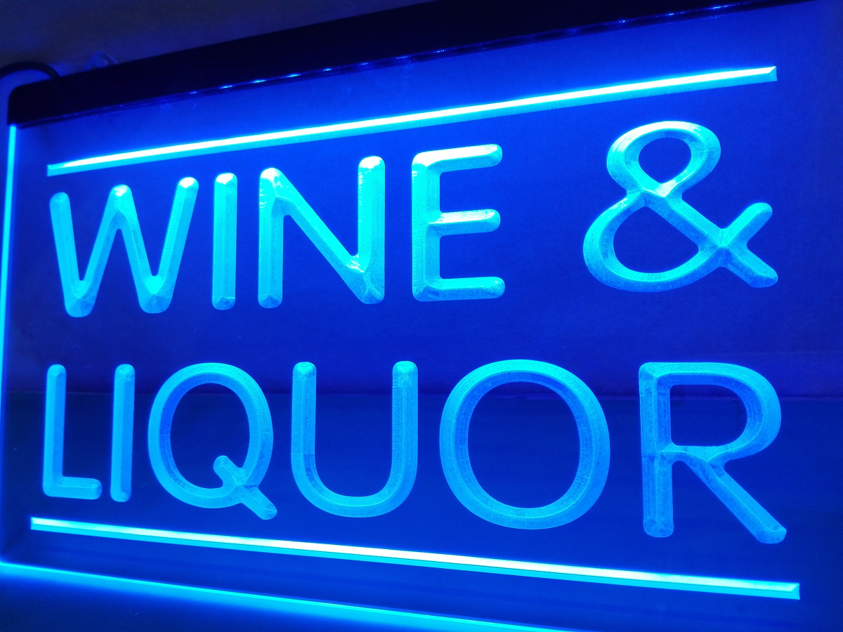 lb405 wine and liquor store led neon light sign home decor crafts in plastic crafts from home. Black Bedroom Furniture Sets. Home Design Ideas