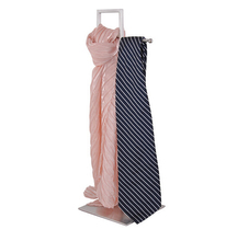 Stainless metal scarves necktie holder desktop necktie rack stand display rack(China (Mainland))