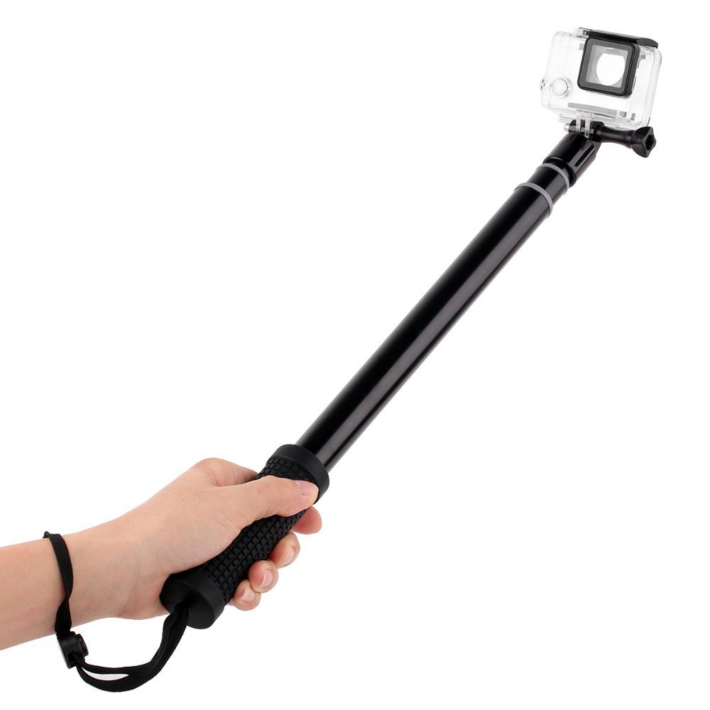 aluminum alloy selfie self stick extendable go pro monopod pole tripod mount. Black Bedroom Furniture Sets. Home Design Ideas